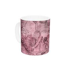"Theresa Giolzetti ""Magic Tricks"" Purple Drawing Ceramic Coffee Mug"