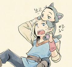Kid!Thor and Baby!Loki—Too cute!   むしゃむしゃ Munching