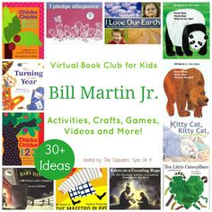 Bill Martin Jr Virtual Book Club for Kids cohosted by The Educators' Spin On It includes 30+ Book Related Activities