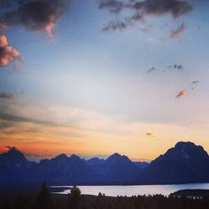 Amazing view of the Tetons from signal mountain in Teton National Park
