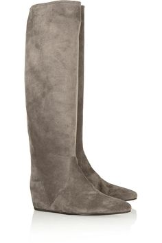 Suede concealed wedge knee boots | Lanvin