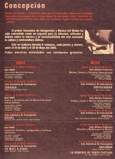 Programa Proyecto ENAM BIOBIO 2005.