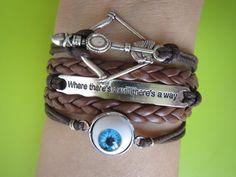 Combined Bracelet / Antiqued Silver Evil Eye Disney by LDnest, $8.99