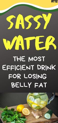 The refreshing 'sassy water' is not one of those distasteful and unpleasant drink which you will have to drink while holding your nose. Healthy Detox, Healthy Drinks, Healthy Tips, Healthy Recipes, Healthy Habits, Detox Recipes, Easy Detox, Healthy Nutrition, Detox Foods