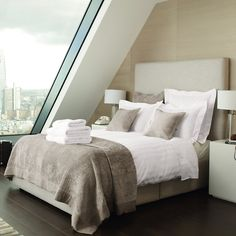 luxury boutique hotel style - Dulwich high upholstered Bed | The White Company