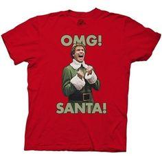 Elf the Movie OMG! SANTA! T-Shirt