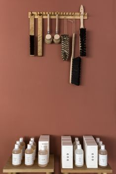 Instore at Caro. On the walls - Tuscan red by Little Greene Company Photo taken by Emma Lewis