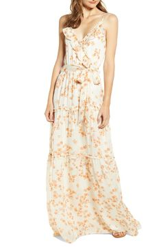 Enjoy exclusive for A La Plage Strappy Floral Tiered Maxi Dress online - Tophitsgoods Off Shoulder Gown, Midi Sundress, Mermaid Gown, Nordstrom Dresses, Fit Flare Dress, Women's Fashion Dresses, Sheath Dress, Clothes For Women, Floral