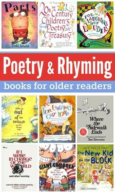 Celebrate National Poetry Month with your buddy! Poetry and Rhyming Books for Older Readers grade and up} Poetry Books For Kids, Best Poetry Books, Kid Books, Poetry Unit, Teaching Poetry, Teaching Grammar, Teaching Reading, Guided Reading, Teaching English