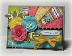 I love this design and have made many of them, but I want to save the tutorial and share it with you, my Pinterest friends.  Thanks @ Yolanda and all the OWH card makers.