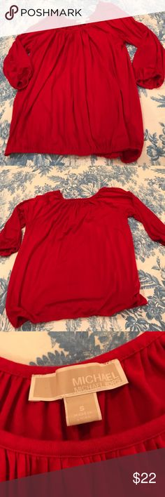 Michael Michael Kors Red Blouse Size Small MICHAEL Michael Kors Tops Blouses