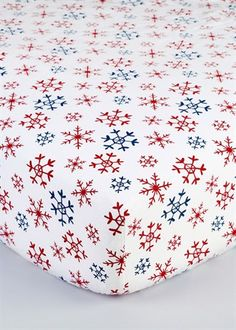 Snowflake 100% Brushed Cotton Single Fitted Christmas Sheet