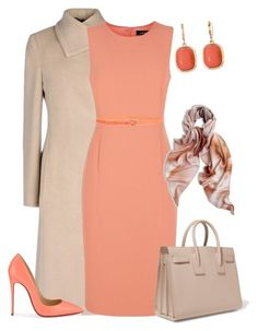 outfit3577 by natalyag on Polyvore featuring polyvore fashion style Jaeger Armani Collezioni Christian Louboutin Yves Saint Laurent Monet Chico's J.Crew clothing