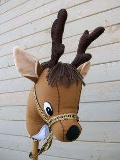 Stick Reindeer Ready to Ride MADE TO ORDER. $34.00, via Etsy.