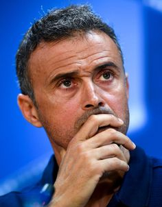 Head coach Luis Enrique of FC Barcelona faces the media during a press conference ahead of the UEFA Champions League Group C match against Celtic FC at Ciutat Esportiva of Sant Joan Despi on September 12, 2016 in Barcelona, Catalonia.