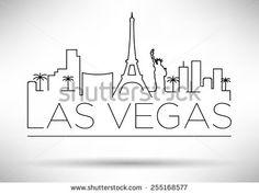 Las Vegas skyline line drawing