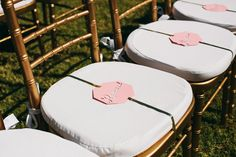 Wedding reserved signs for at the ceremony. Give close friends and family a reminder of where to sit during the ceremony! | Palm Springs Wedding | Lovelyfest Event Design