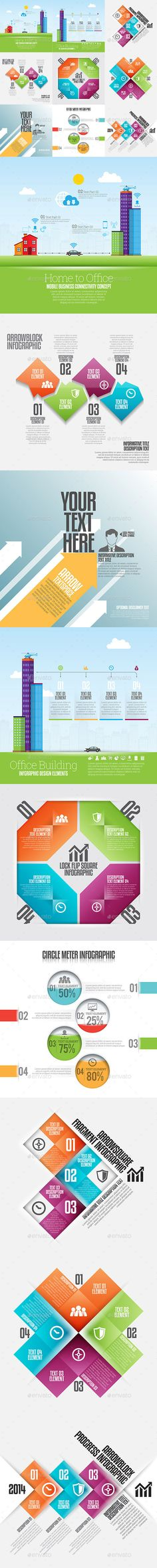 Infographic Set Templates #design Download: http://graphicriver.net/item/infographic-set-21/12999659?ref=ksioks