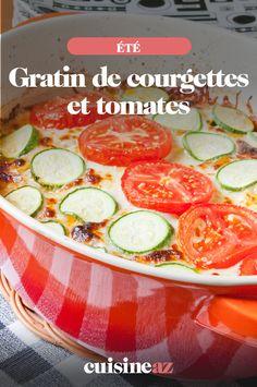 Réaliser des gratins, c'est facile et délicieux. Ce gratin est un mélange de courgettes et de tomates.  #gratin #courgette #tomate #recette #cuisine 20 Min, Vegetables, Food, Kitchen, Veggie Bake, Cooking Recipes, Vegetable Tian, Grilled Fish, Laundry Room