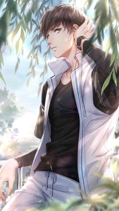 i got a lot of work to do. Badass Anime, Cool Anime Guys, Handsome Anime Guys, Anime Boys, Manga Couple, Anime Couples Manga, Cute Anime Couples, Manga Anime, Romantic Anime Couples