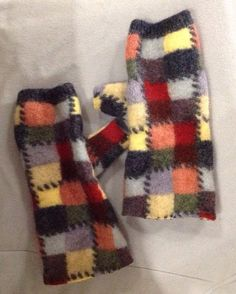 Felted Fingerless Gloves for woman girls by mcleodhandcraftgifts