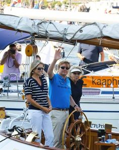 Dutch Royals attend Sail Amsterdam 2015 in Amsterdam, The Netherlands, 22 August 2015. HM King Willem-Alexander, HM Queen Maxima and Princess Beatrix attend Sail Amsterdam 2015 in Amsterdam at The Groene Draeck