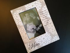 Mom Mother of the Bride Gift Mother Daughter Personalized Wood Wedding Photo Frame 4x6 Keepsake w/ Choice of Paper