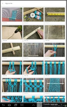 macrame/macrame anleitung+macrame diy/macrame wall hanging/macrame plant hanger/macrame knots+macrame schlüsselanhänger+macrame blumenampel+TWOME I Macrame & Natural Dyer Maker & Educator/MangoAndMore macrame studio Macrame Hanging Chair, Macrame Chairs, Macrame Art, Macrame Projects, Macrame Knots, Diy Hanging, Diy Projects, Macrame Mirror, Macrame Curtain