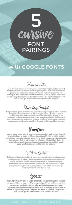 google font pairings how to pair fonts by Dapper Fox Designin Salt Lake City Utah//  Website Design - Branding - Logo Design - Entrepreneur Blog and Resource