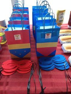 Superman & Wonder Woman Goodie bags & Masks