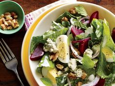 Together, hard-boiled eggs and walnuts give you the energy boost you need throughout the day. When you pair those two with pungent blue cheese andnutrient-dense kale and beets,you have one delicious, powerhouse salad. Perfect for an on-the-go, protein-packed lunch, this salad is sure to get you through the day feeling satiated and energized. View Recipe: Kale and Beet Salad with Blue Cheese and Walnuts