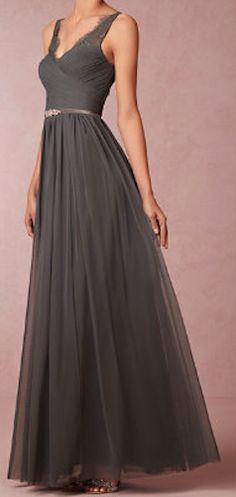 Dark grey beautiful dress