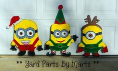 Isnt this set adorable? Christmas Minions! Custom Work Examples - Yard Parts by Marts.com
