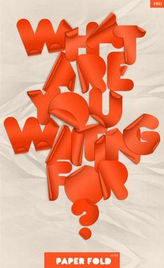 Typeverything.com Paper Fold Font — Designspiration
