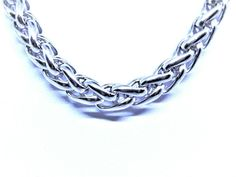 """8mm spiga wheat chain necklaces mens/womens sizes 18""""/26"""" or 28"""" stainless steel #Unbranded #SpigaWheat Mens Chain Necklace, Chain Necklaces, Pendant Necklace, Hip Hop Chains, Rope Chain, Men's Jewelry, Pendants, Stainless Steel, Sterling Silver"""