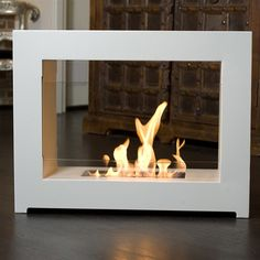 Hudson Slim Burner by BrasaFire, for indoor or outdoor use. Burns Bio-Ethanol.