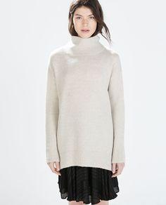 ZARA| Highnecked oversize sweater