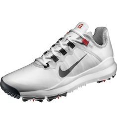 Nike TW 13 Golf Shoe - White/Red at Golf Galaxy