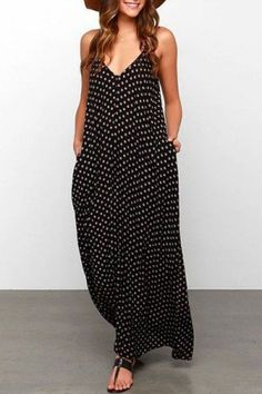 Spaghetti Strap Printed Maxi Dress , formal dresses maxi dresses womens dresses summer dresses party dresses long dresses casual dresses dresses for wedding , # Polka Dot Maxi Dresses, Floral Print Maxi Dress, Dot Dress, Beauty And Fashion, Fashion Mode, Style Fashion, Latest Fashion, Fashion 2016, Fashion News