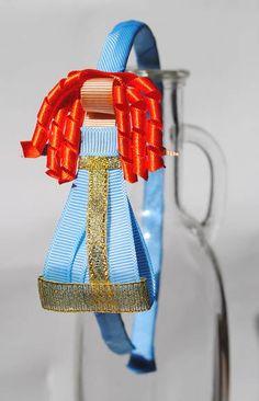 tiara da Merida - Valente esculturas feitas com fitas de gorgorão à mão.