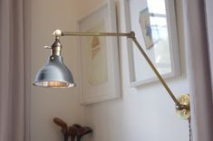 Industrial Articulating Brass Wall Lamp 2.0 by LongMadeCo on Etsy