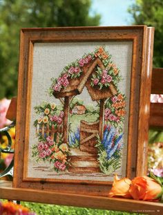 Gallery.ru / Фото #10 - 971 - Yra3raza Cross Stitch Tree, Cross Stitch House, Cross Stitch Flowers, Cross Stitch Charts, Cross Stitch Patterns, Blackwork Patterns, Cross Stitching, Cross Stitch Embroidery, Cross Stitch Landscape