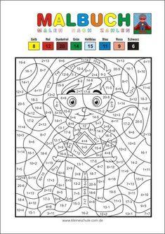 Malen nach Zahlen - Addieren und subtrahieren im Zahlenraum 20 - Matheaufgaben für die 1. Klasse Mathematik in der Grundschule
