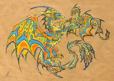 It was an interesting work to make a dragon looking like an original Welsh dragon (the red dragon appears on the national flag of Wales), but make it in. Fantasy Creatures, Mythical Creatures, Baby Dragon Tattoos, Flight Lessons, Mythological Animals, Mythical Dragons, Dragon Sketch, Dragon's Lair, Beautiful Dragon