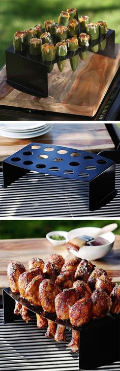 Nonstick Chicken Leg Griller / Jalapeño Roasting Tray - yum, roasted jalapeno! #product_design
