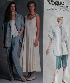 Vogue 1856 Perry Ellis Design Misses  Jacket, Dress, Top, Pants, Shorts Pattern, Size 8, Bust 31 1/2, uncut