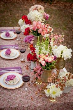 array of flowers and vases, photo credit: The French Bouquet