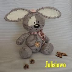 Conejo de ganchillo  patrón PDF. Conejo parecido a  by Julisiowo
