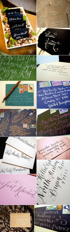 Calligraphers and envelope calligraphy