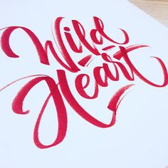 """Wild heart. Still amazed with cheap Crayola markers and effects you can achieve with them. #crayoligraphy #lettering #calligraphy #thedailytype…"""